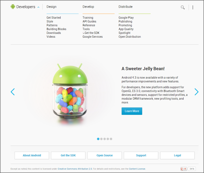 Android Developers Website