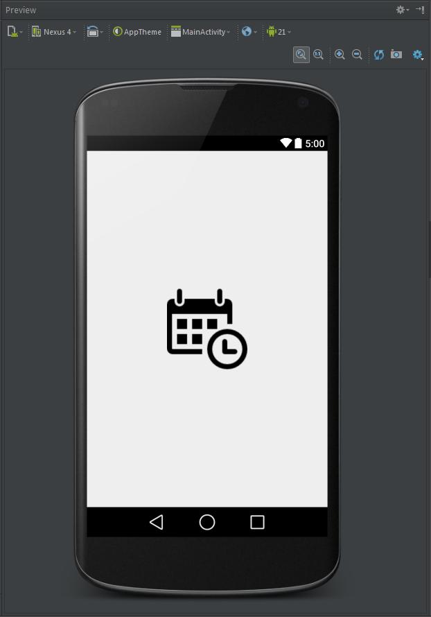 Preview da tela login após inserir uma ImageView