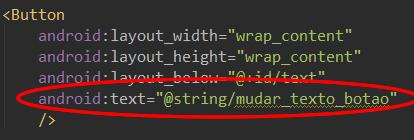 Referenciando o recurso desejado no arquivo de layout